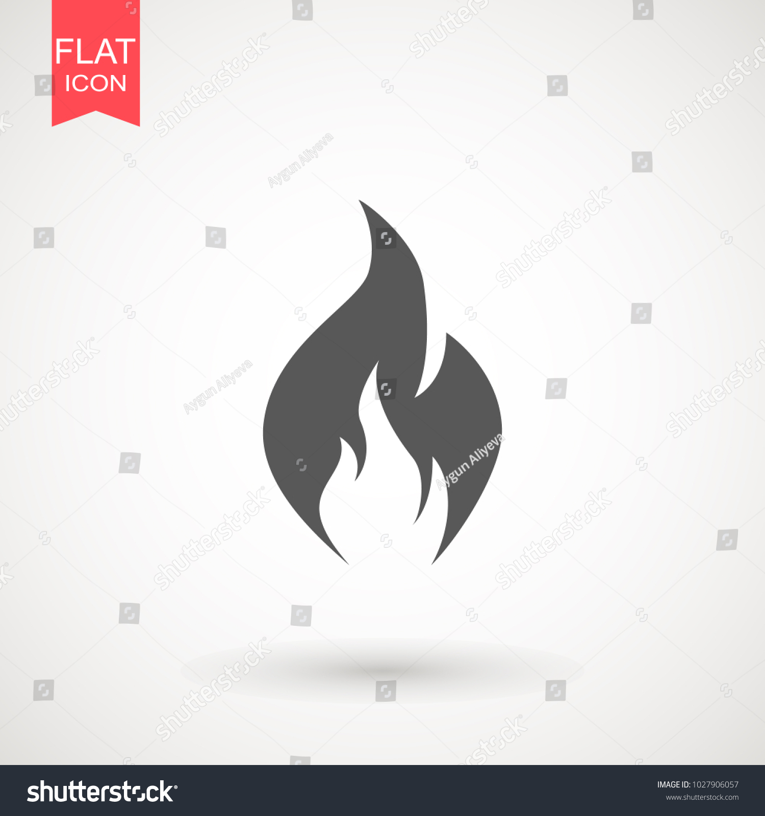 Fire Flame Icon Vector Template Hot Stock Vector Royalty Free