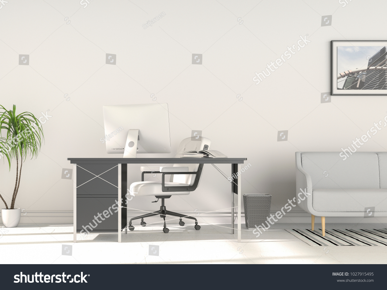 3 D Rendering Interior Modern Living Room Stock Illustration ...
