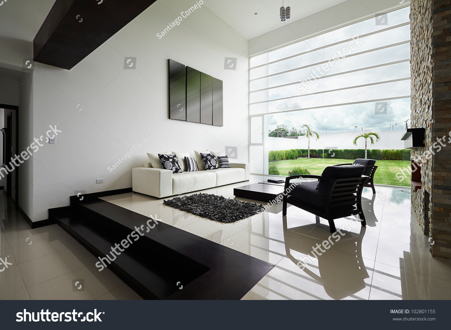 Interior Design Series Modern Living Room Stock Photo 102801155 ...