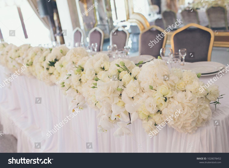 Original Wedding Decor Ideas Wedding Table Stock Photo (100% Legal ...