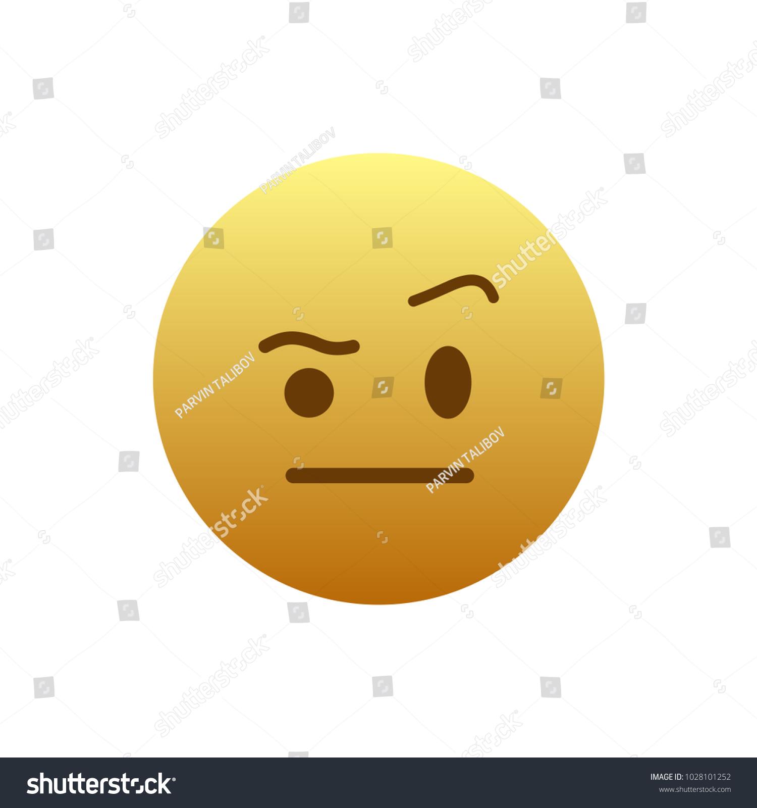 Eyebrow Raised Emoji Stock Vector Royalty Free 1028101252