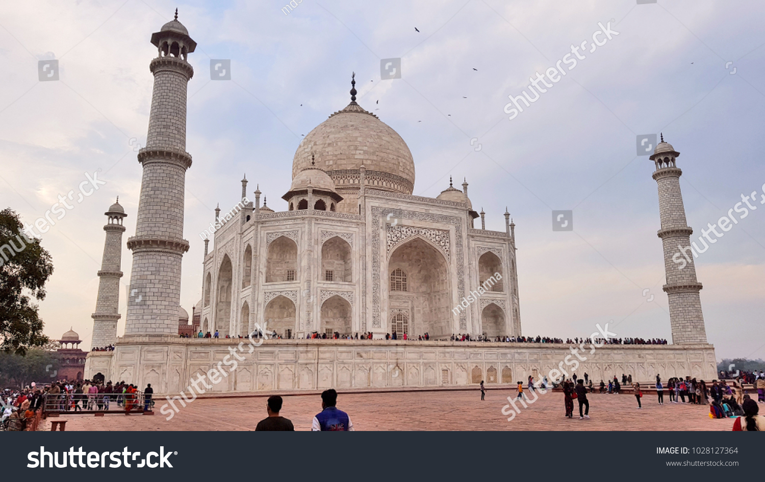 Agra India February 11 2018 World Famous Symbol Of Love The