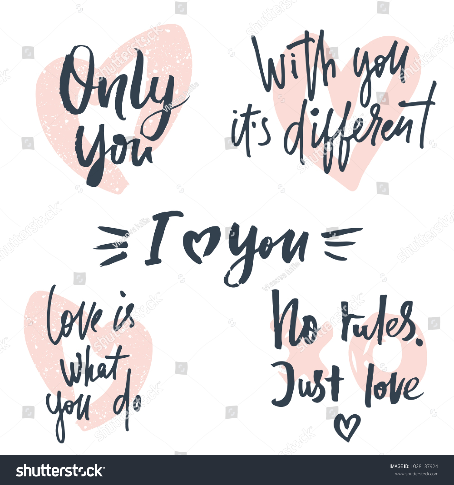 Vector illustration love quotes text greeting stock vector vector illustration of love quotes text for greeting card banner gift badge poster kristyandbryce Images