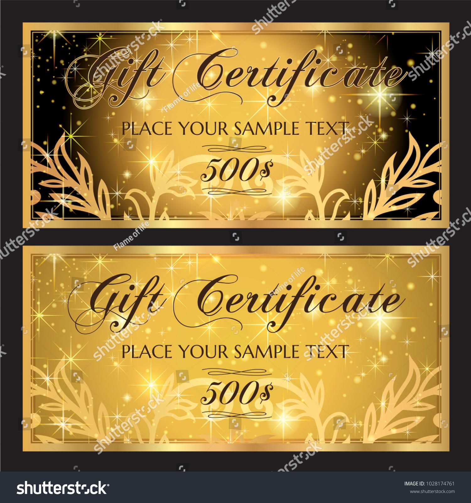 Gift Voucher Template Printable Christmas Gift Stock Vector Royalty
