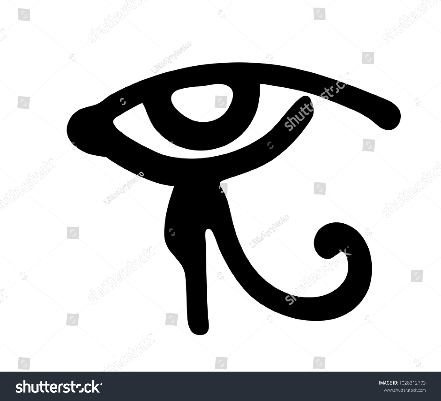 Egyptian immortality symbol images symbol and sign ideas ancient egyptian religious symbols image collections symbol and egyptian eye horus symbol religion myths stock vector buycottarizona