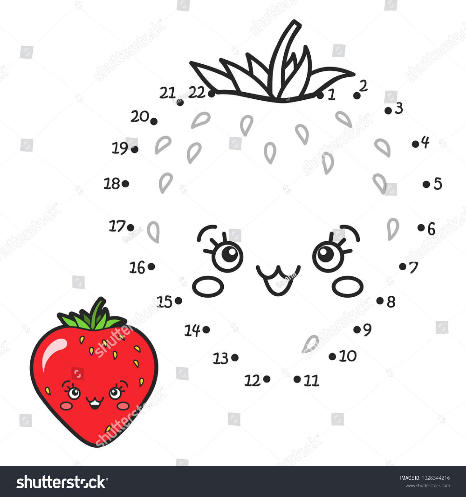 Vector Illustration Numbers Game Connect Dot Stock Vector 1028344216 ...