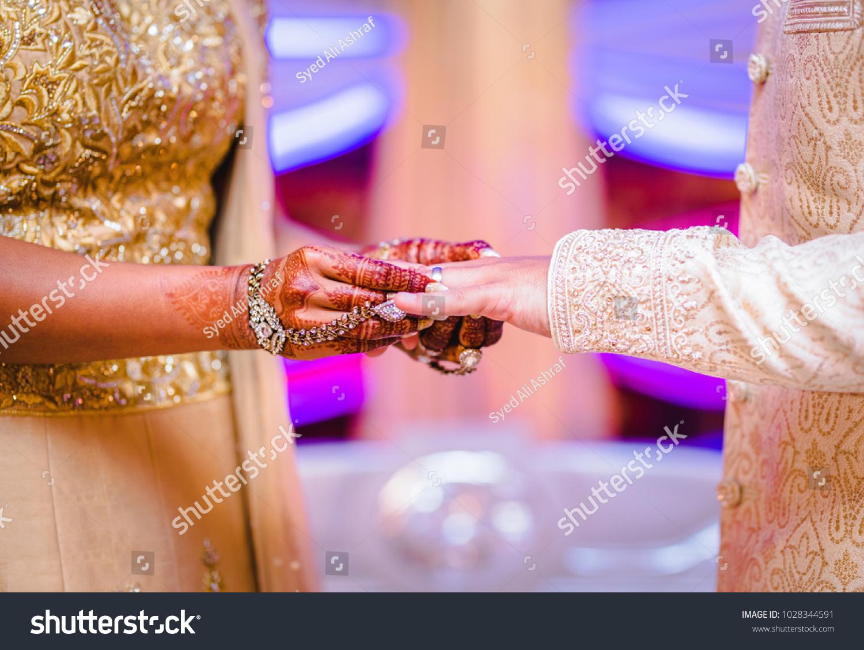 Wedding Ring Bride Exchange Ceremony Groom Stock Photo (Royalty Free ...