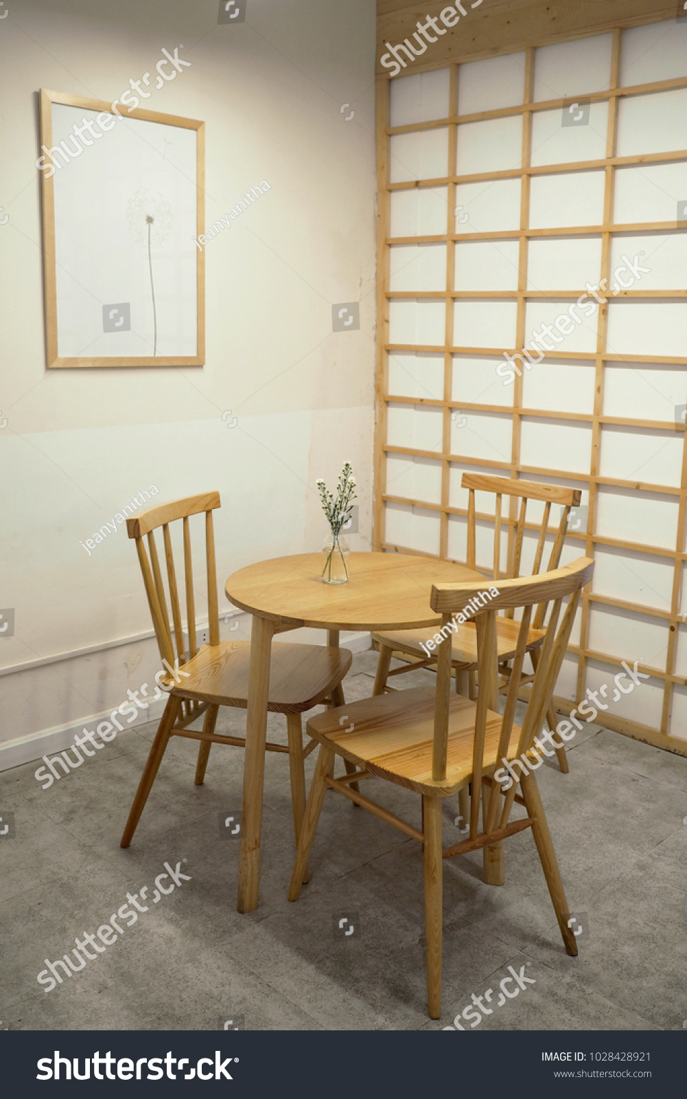 Japanese Cafe Interior Style Stock Photo Edit Now 1028428921