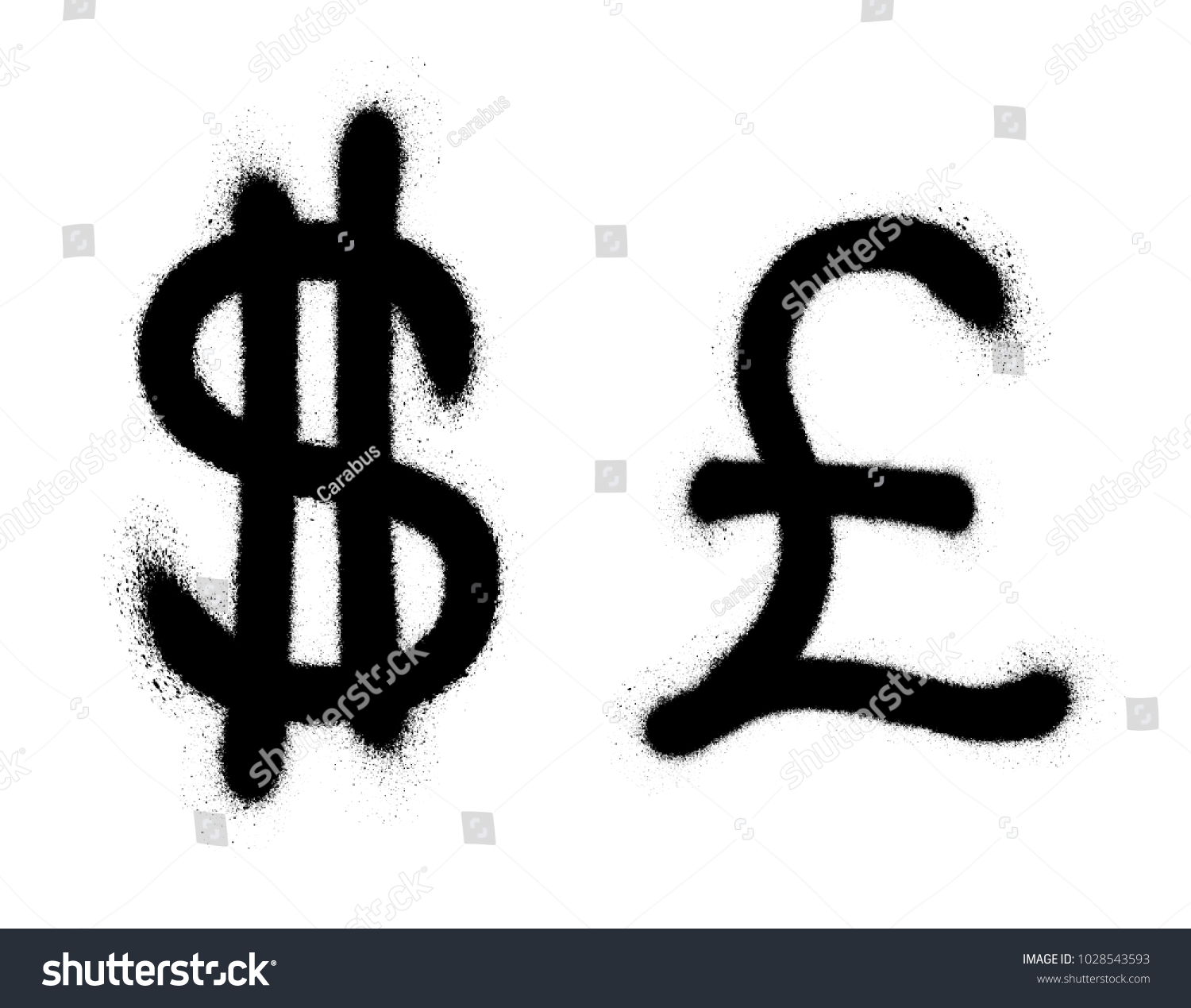 Currency icons set black spray graffiti stock vector 1028543593 black spray graffiti symbol of currency over white background finance vector biocorpaavc Images