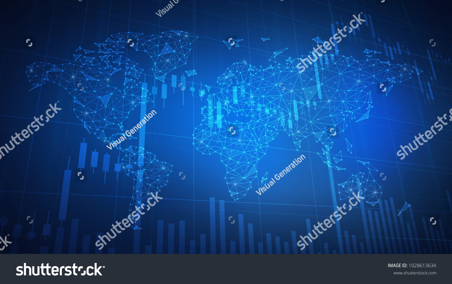 Bitcoin cash coin on hud background stock illustration 1028613634 bitcoin cash coin on hud background with bull trading stock chart and polygon world map gumiabroncs Gallery