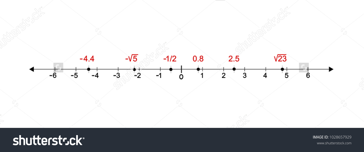 All Real Numbers Line Graph Vector Stock Vector Royalty Free