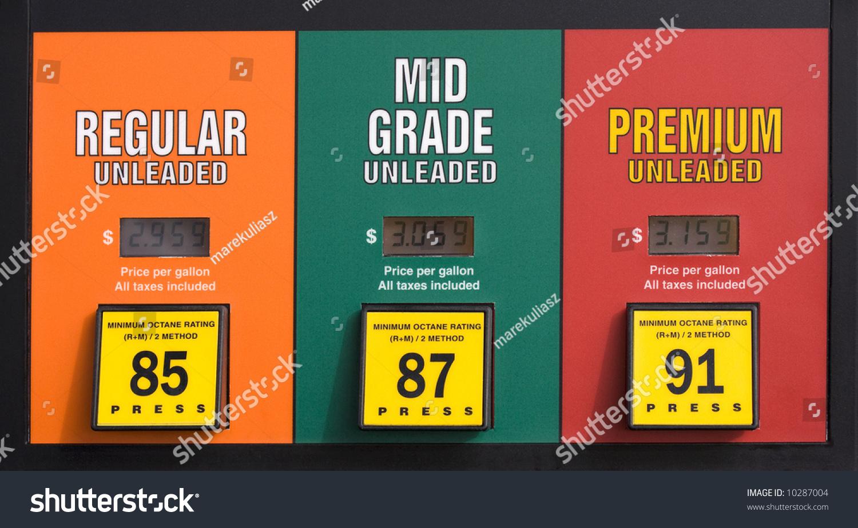 colorado gas prices pump regular mid stock photo 10287004 shutterstock. Black Bedroom Furniture Sets. Home Design Ideas