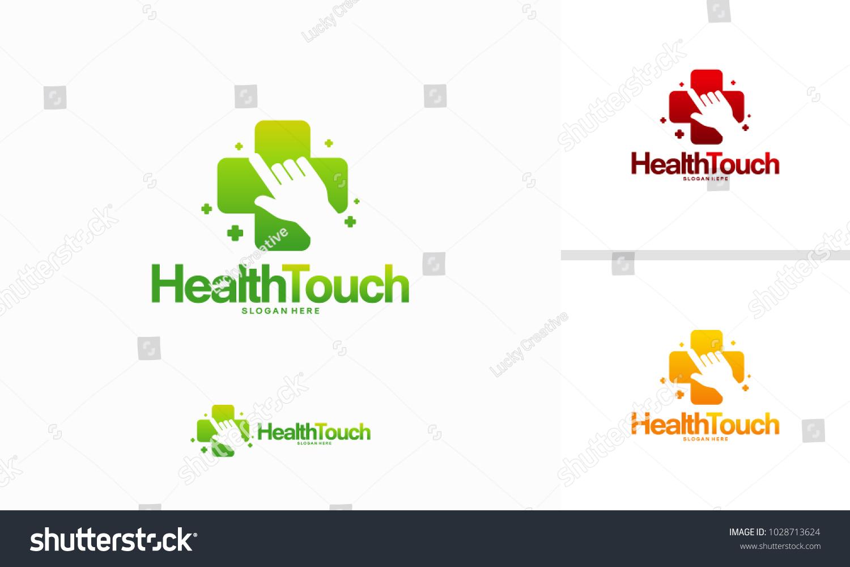 Health Touch Logo Designs Concept Vector Stock Vector Royalty Free