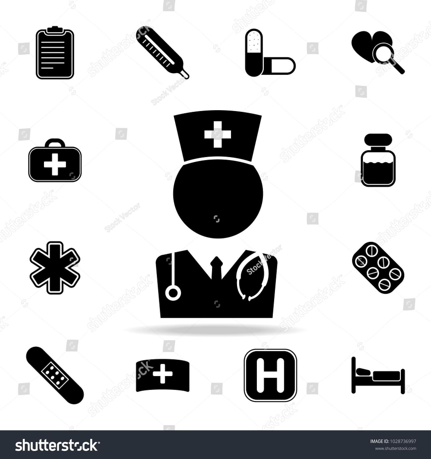 Medical Doctor Icon Set Medicine Hospital Stock Vector Royalty Free