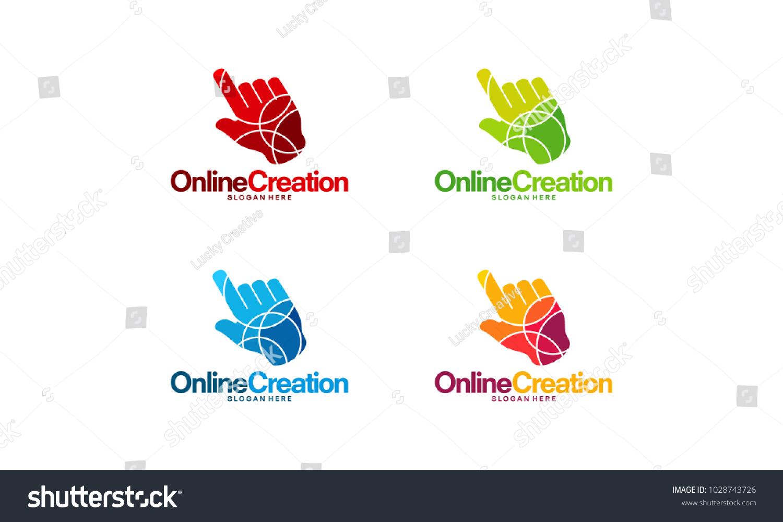 Online Art Logo Designs Concept Online Stock Vector Royalty Free