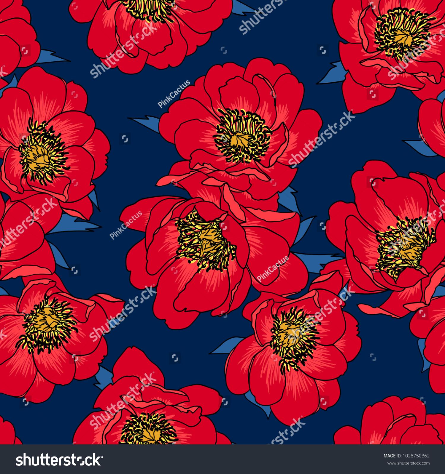 pretty floral vector design backgrounds textile stock vector