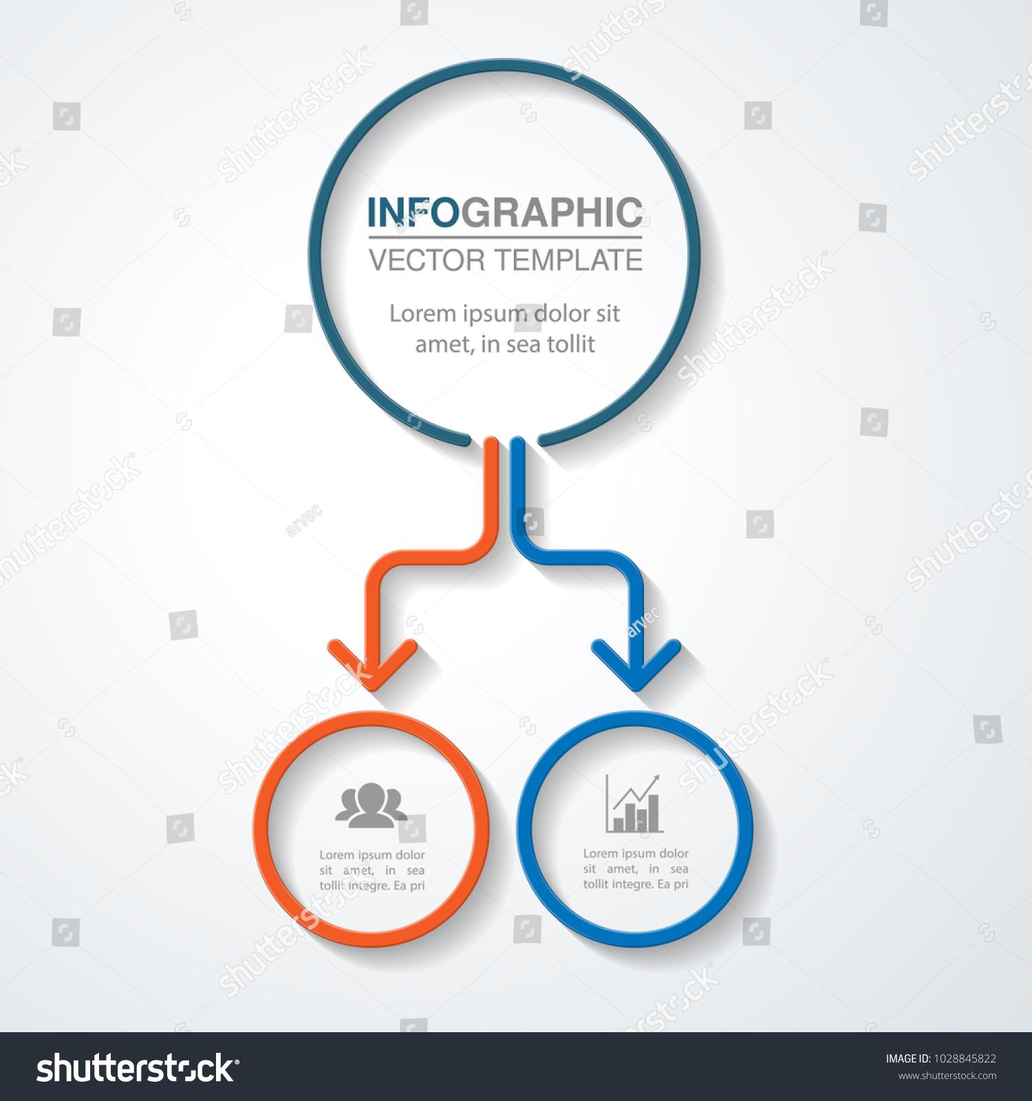 vector infographic template diagram graph presentation のベクター