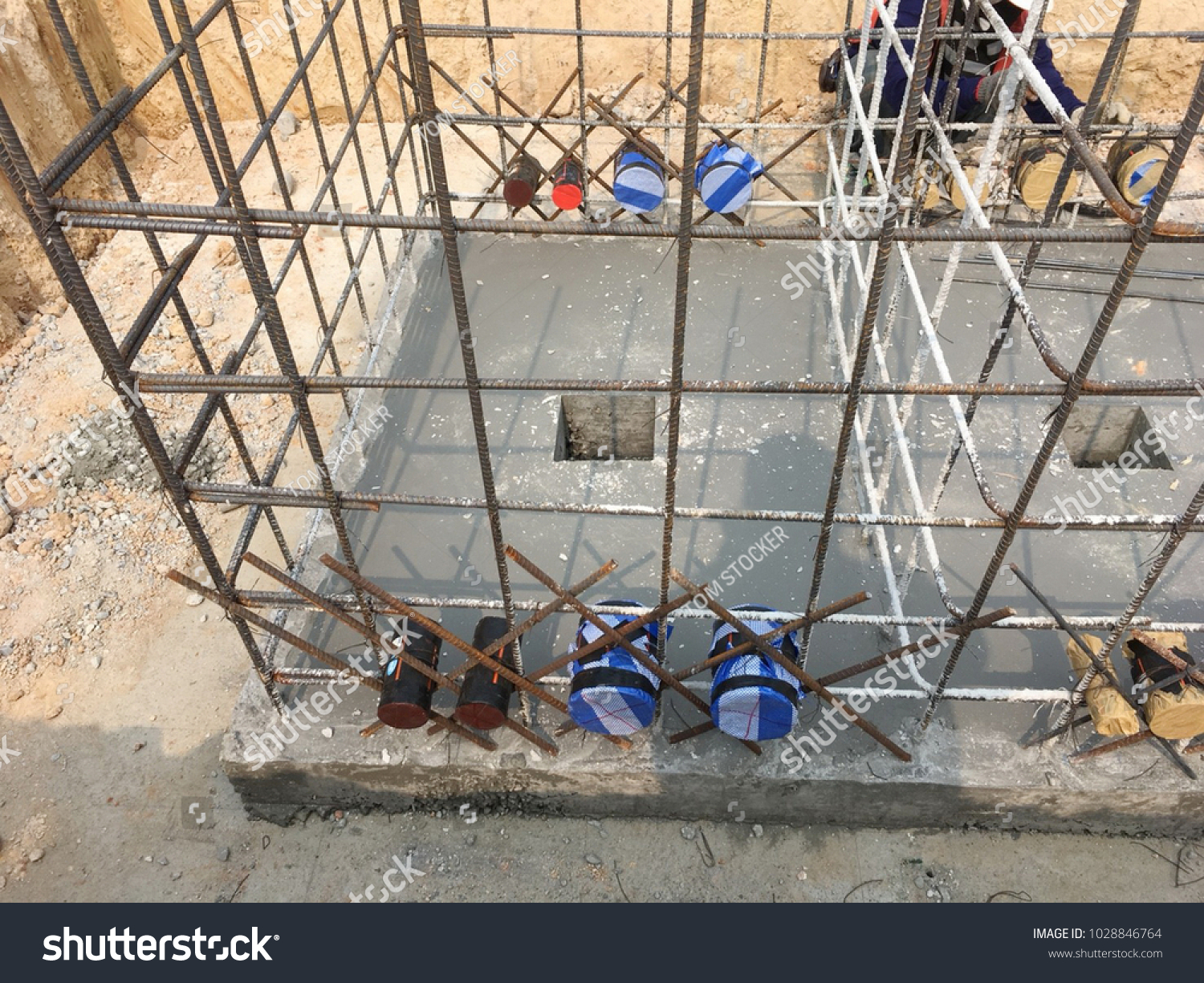 Astonishing Install Hdpe Pipes Steel Structures Electrical Stock Photo Edit Now Wiring 101 Nizathateforg