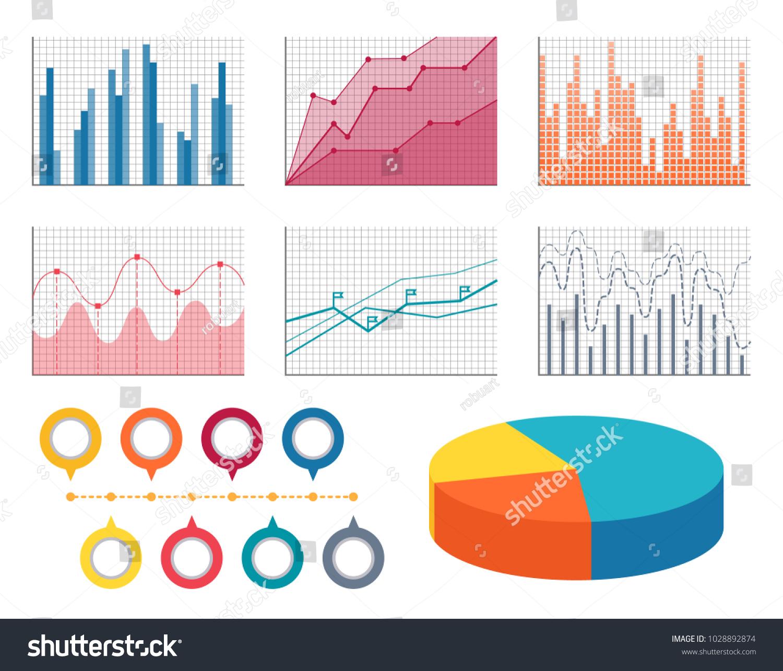Graphics All Types Information Set Flat Stock-Vektorgrafik ...