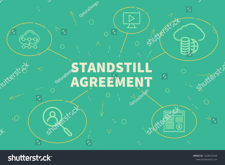 Business illustration showing concept standstill agreement stock business illustration showing the concept of standstill agreement platinumwayz