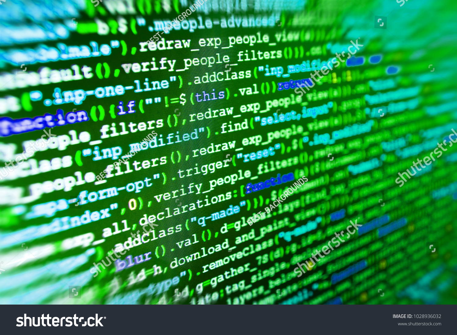Abstract Computer Script Code Software Development Stock Photo (Edit