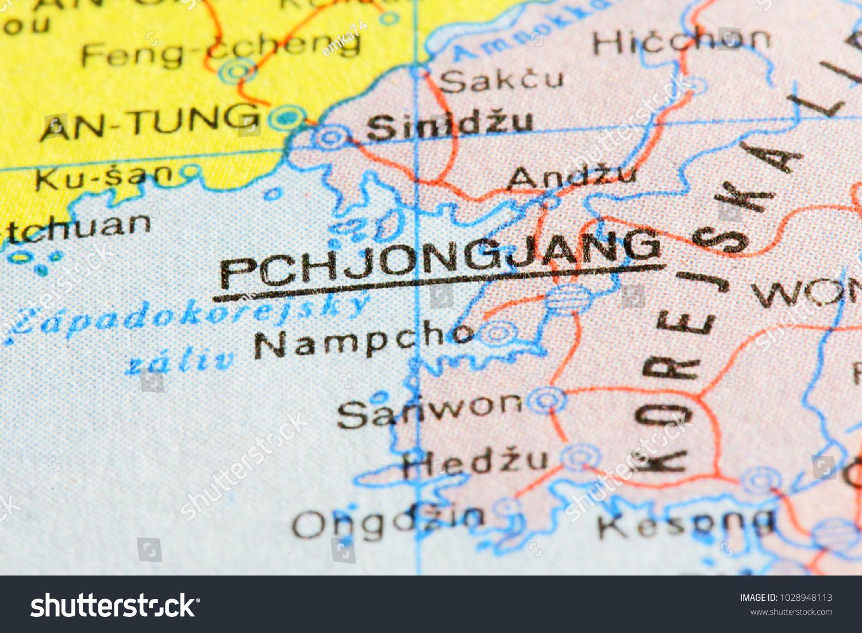 Pchjongjang Pyongyang North Korea On Route Stock Photo Edit Now
