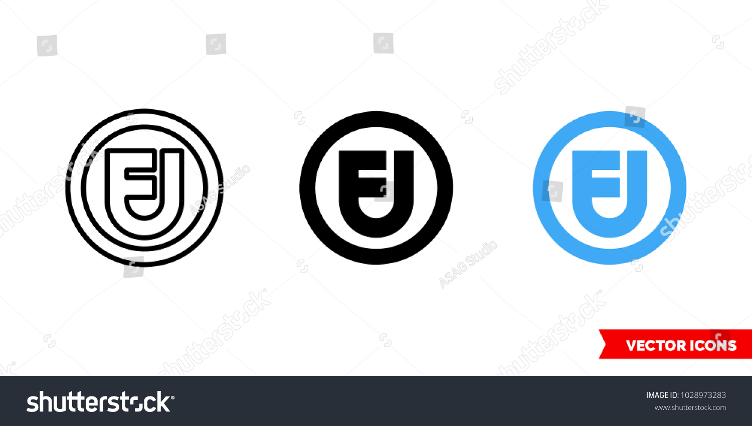 Fair use symbol icon 3 types stock vector 1028973283 shutterstock fair use symbol icon of 3 types color black and white outline buycottarizona Images