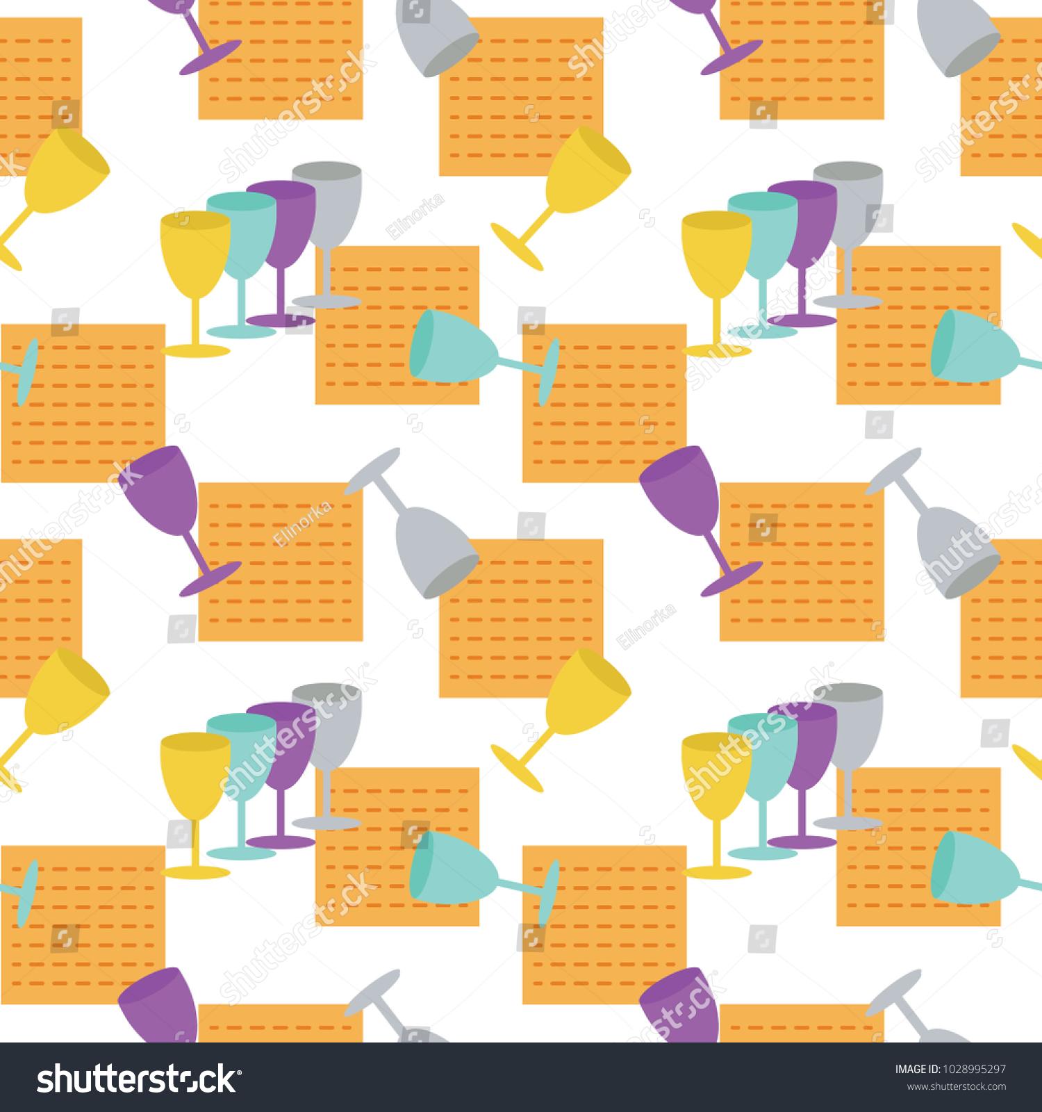 Passover Seamless Pattern Background Jewish Holiday Stock Vector