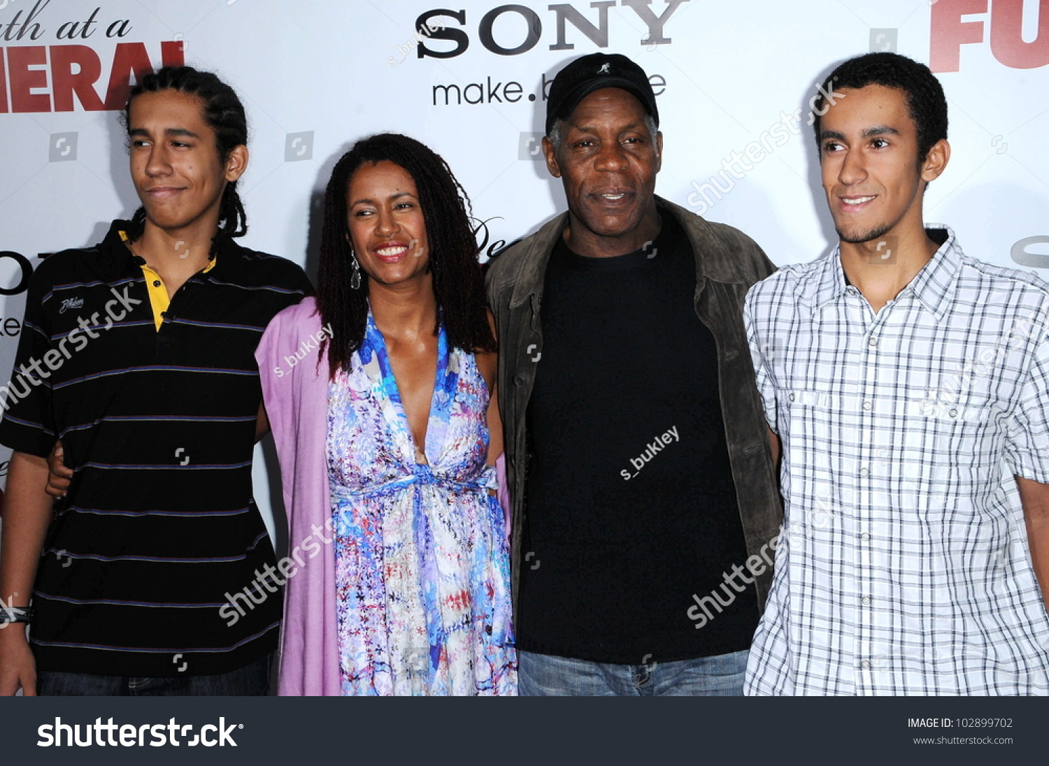 Danny Glover Wife Eliane Cavalleiro Her Stock Photo ...