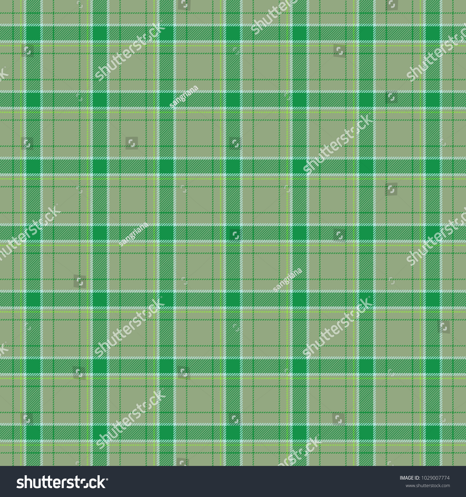 Green Bed Sheets Texture. Green And Grey Checkered Bed Linen Cloth Rural  Style Pattern Texture