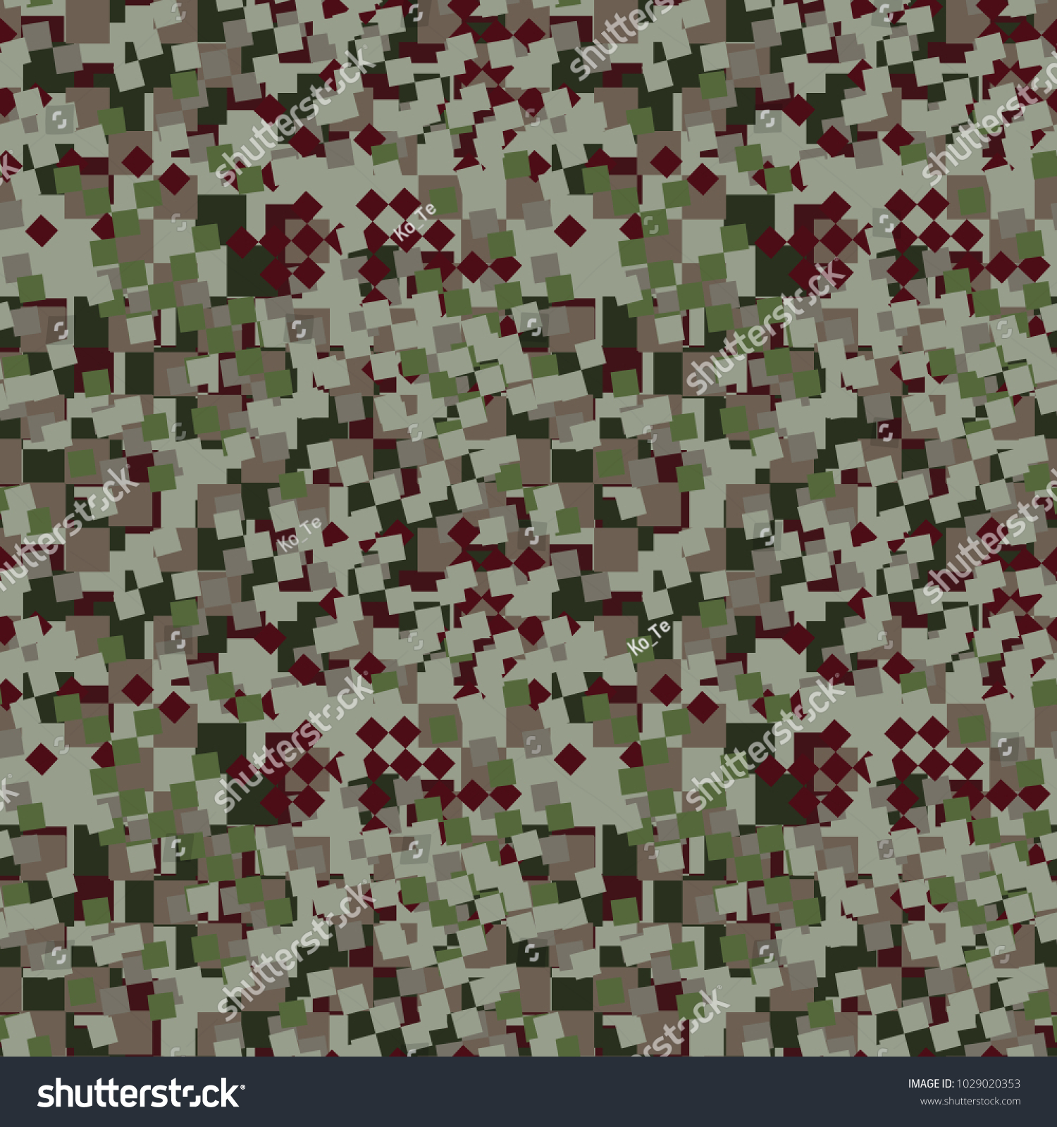 Light Green Red And Dark Digital Camouflage Is A Colorful Seamless Pixel Pattern That