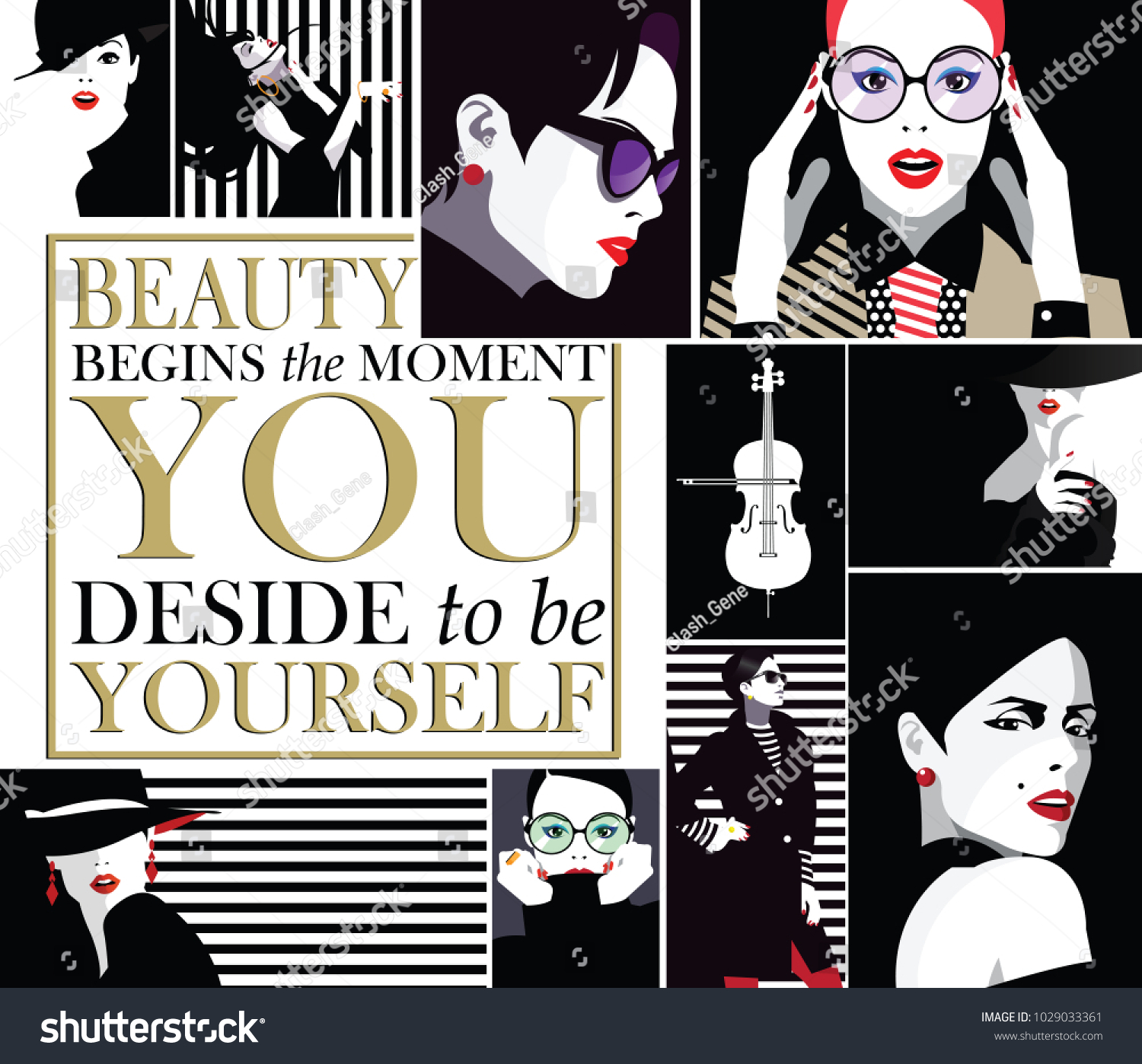 Group portraits fashion women style pop stock vector hd royalty group portraits of fashion women in style pop art with quote solutioingenieria Image collections