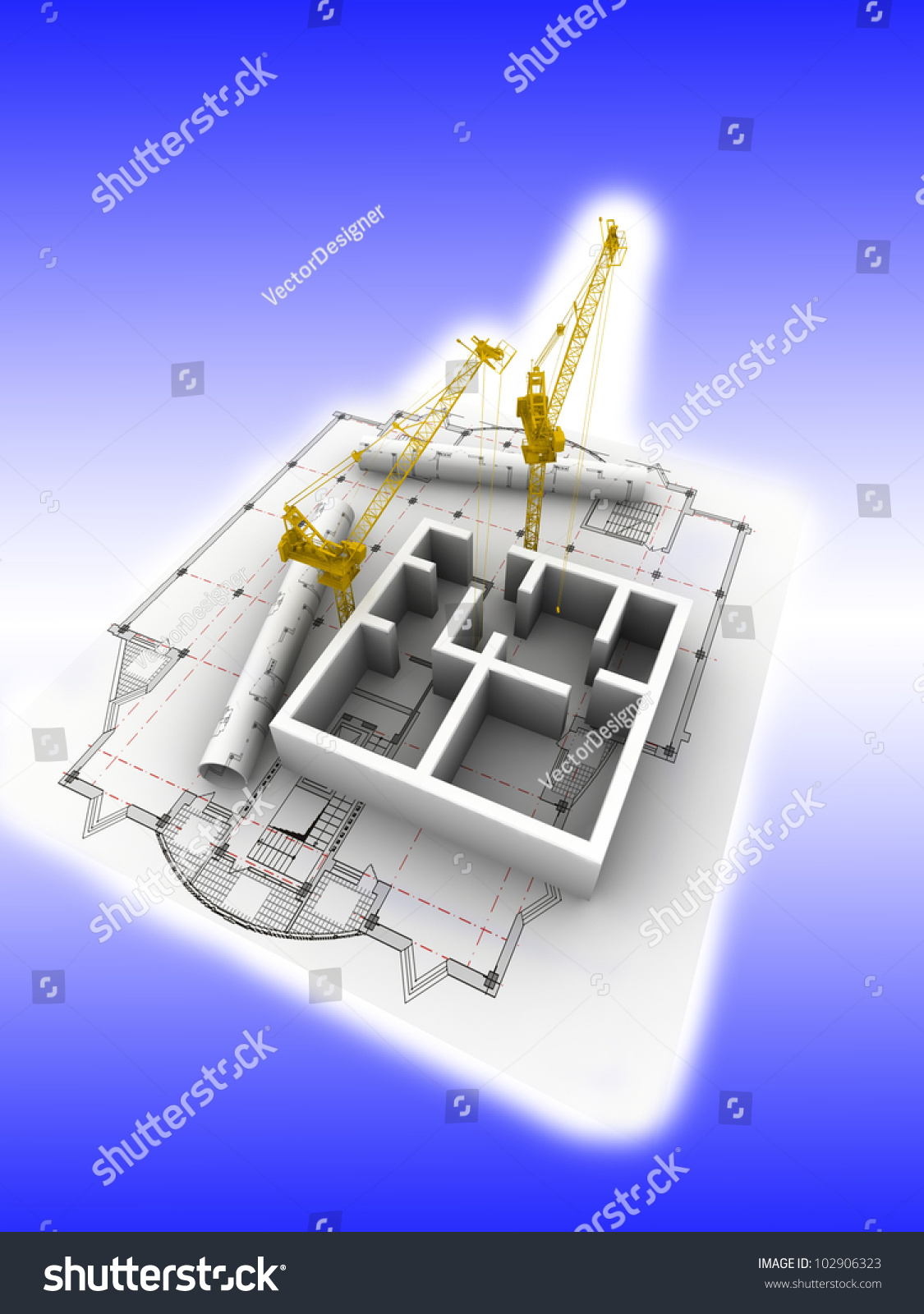 3d plan drawing stock photo 102906323 shutterstock for 3d plan drawing