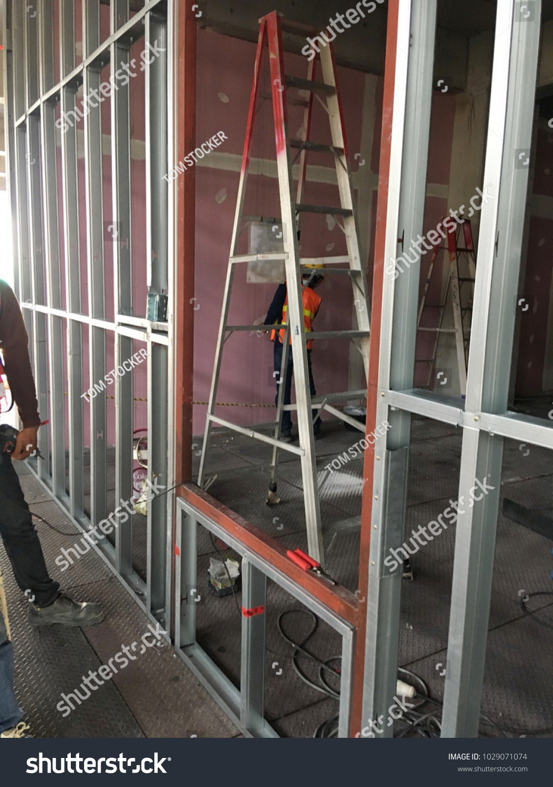 Electrical Installation Emt Conduit Embedded Wall Stock Photo (Edit ...