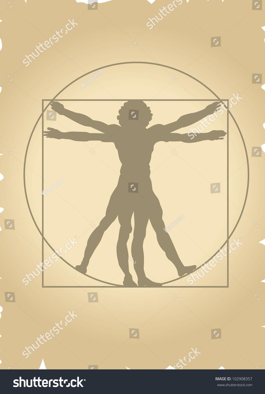 Vitruvian Man Vector Stock Vector 102908357 - Shutterstock
