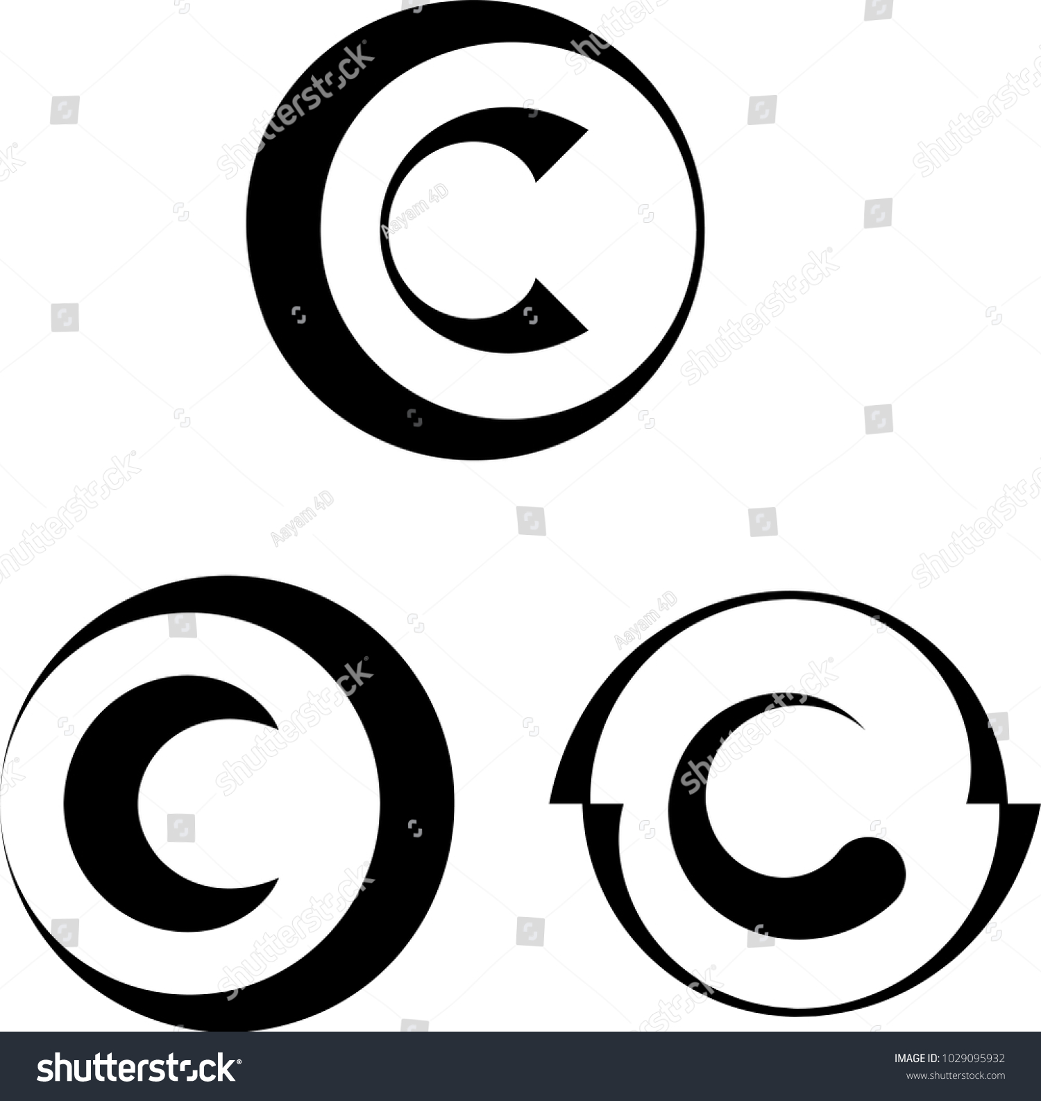 Copyright Icon Copyright Letter C Symbol Stock Vector Royalty Free