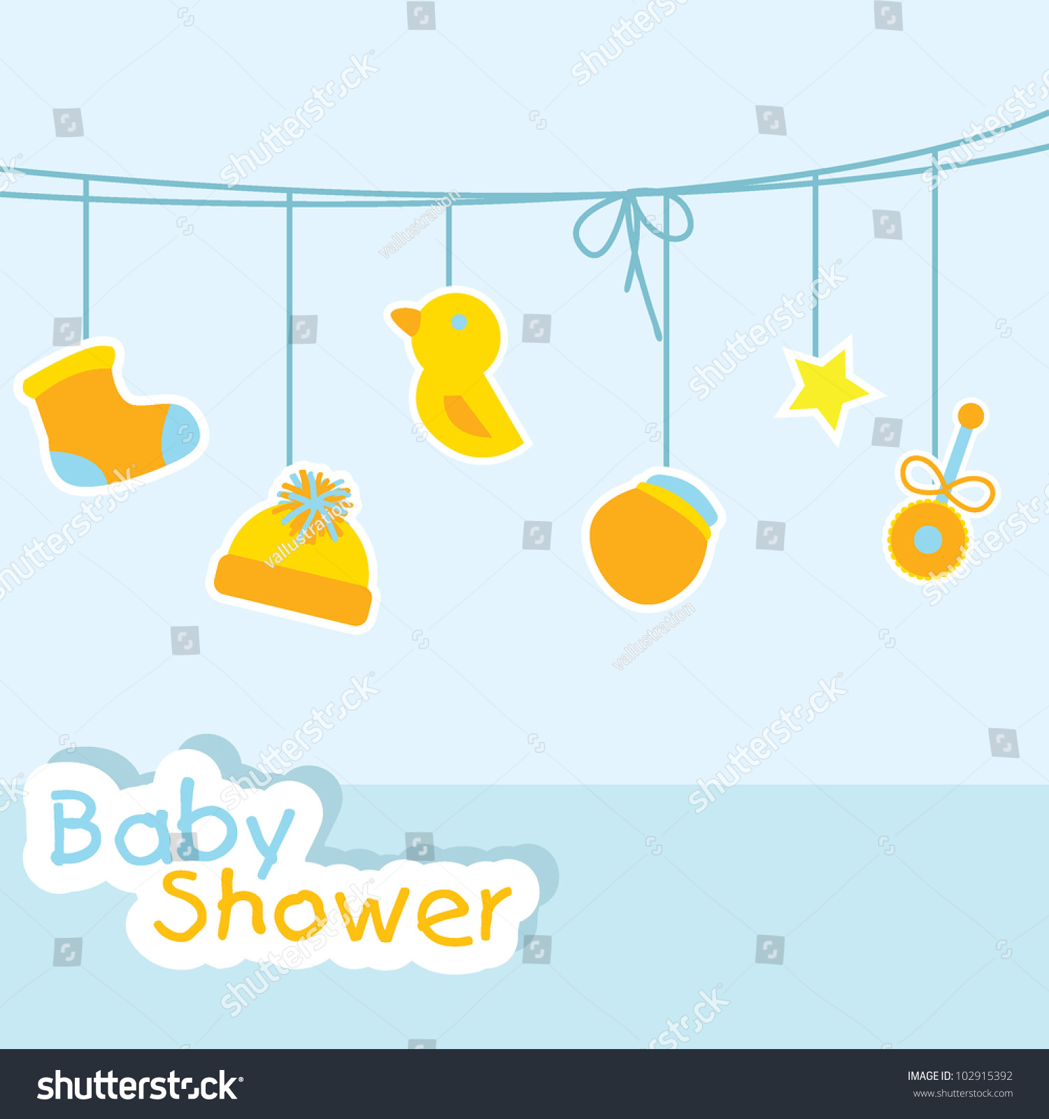 baby shower background for baby stuff greeting cards and