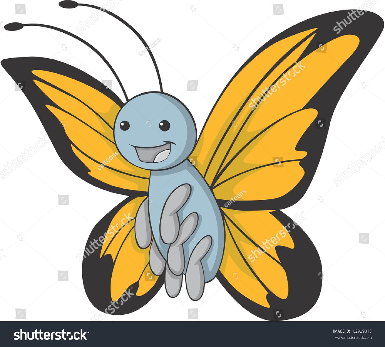 cute butterfly cartoon stock vector 102929318 shutterstock