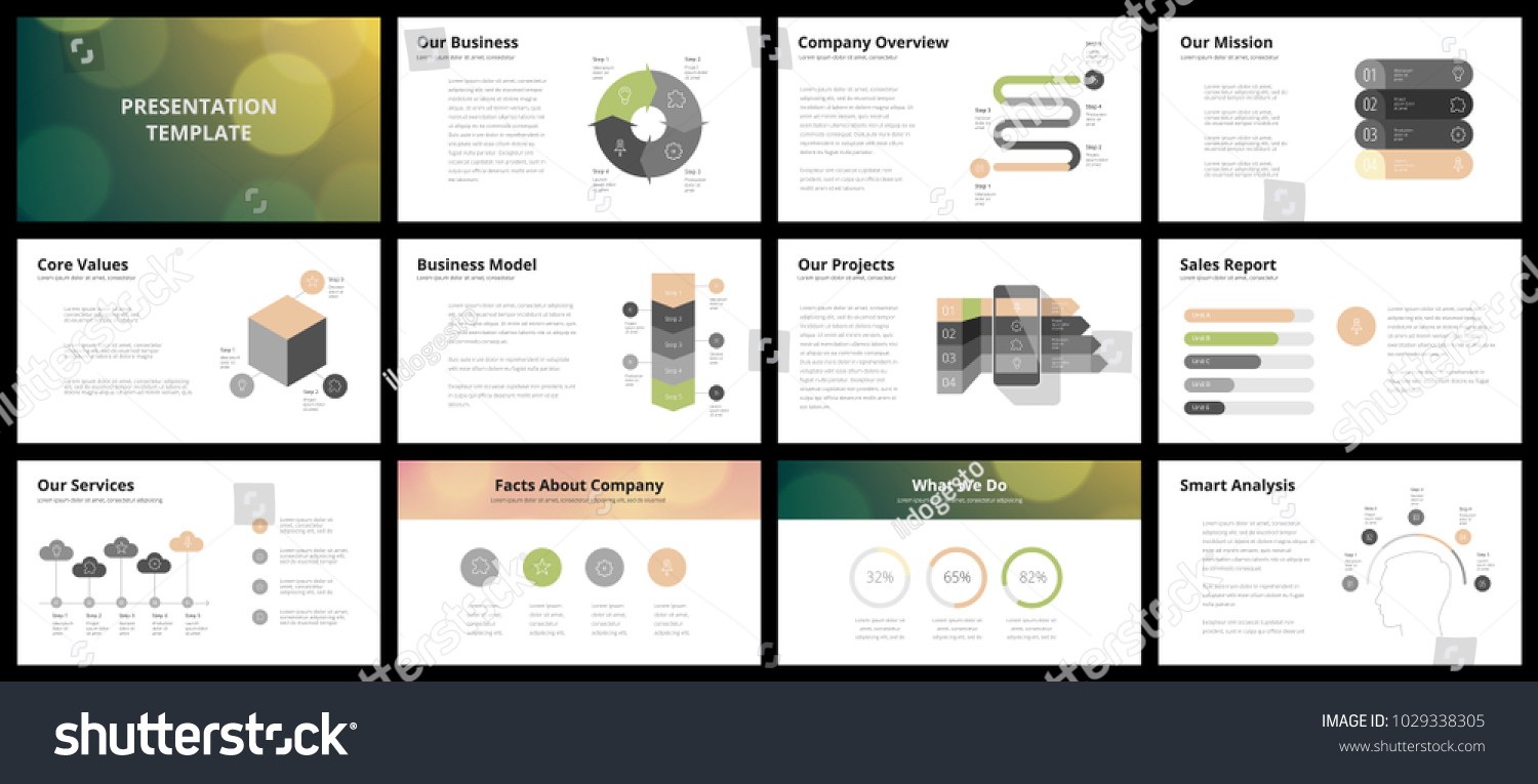 business presentation templates vector infographic elements の