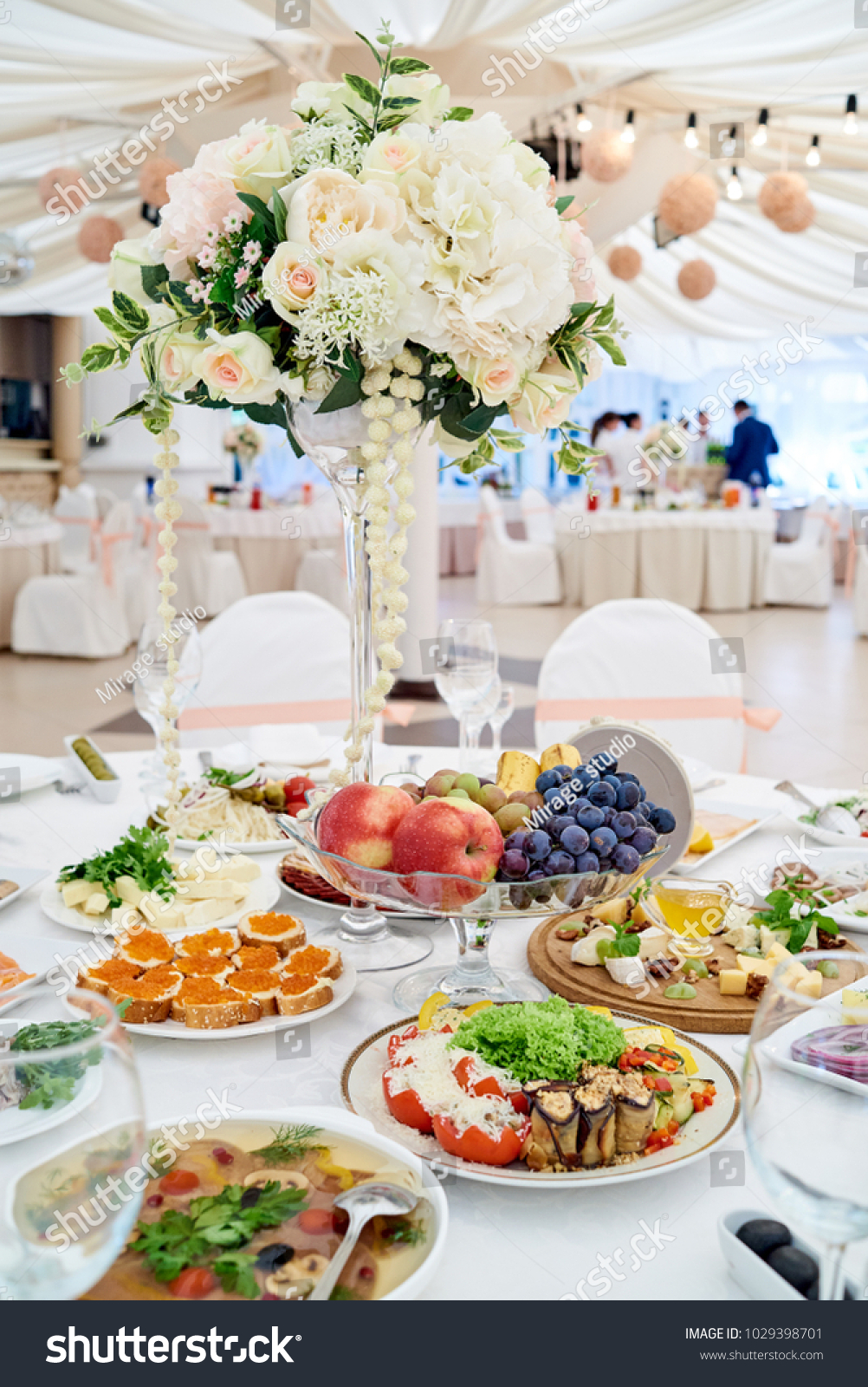 Table Setting Luxury Wedding Reception Beautiful Stock Photo Edit