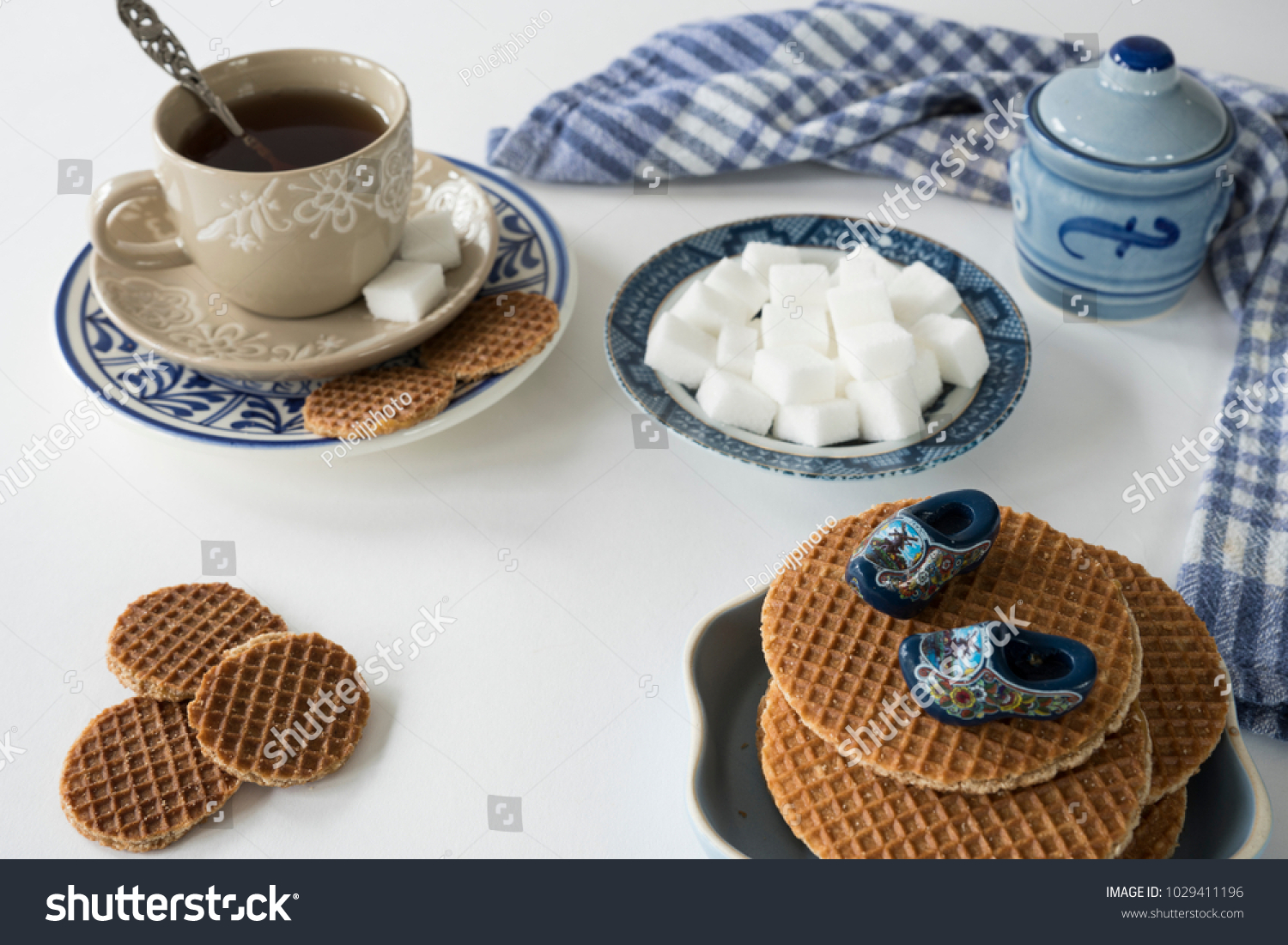 Morning Scene Cup Tea Coffee Dutch Stock Photo Edit Now 1029411196