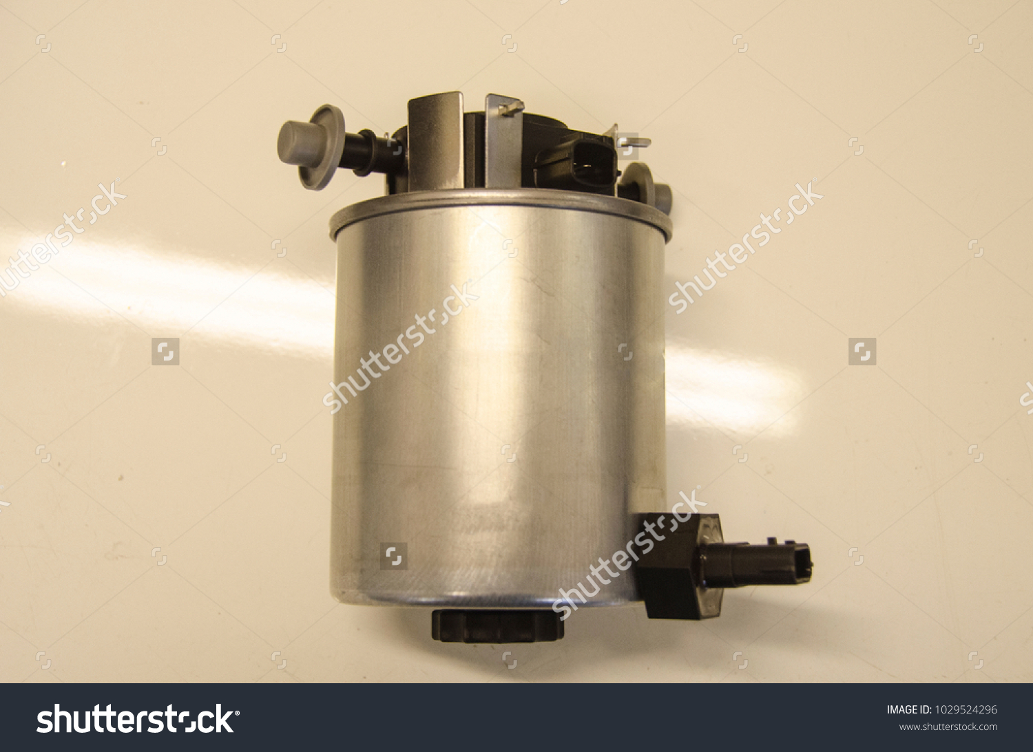 Diesel Fuel Filter Water Separator On Stock Photo Edit Now Filters And The White Background
