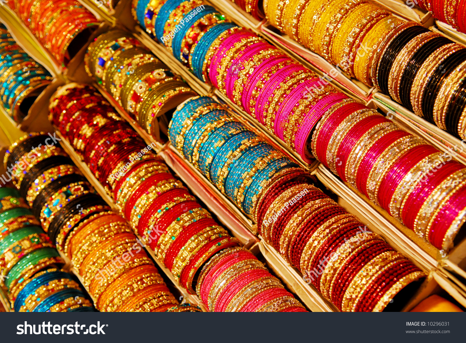 Background Colorful Indian Bangles Stock Photo 10296031