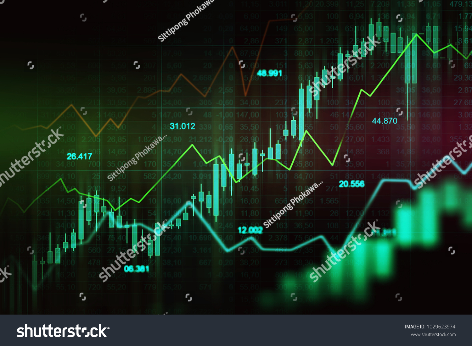 stock market or forex trading graph in graphic concept suitable for