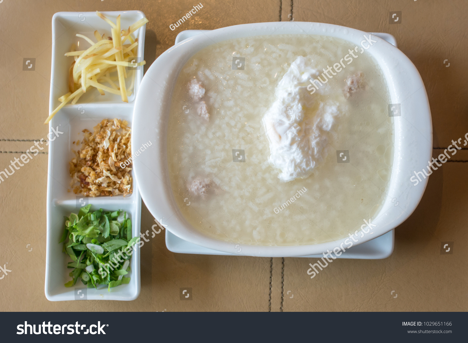 Chinese recipe rice porridge boiled egg minced stock photo download chinese reciperice porridge with boiled egg minced pork chicken liver ginger forumfinder Choice Image