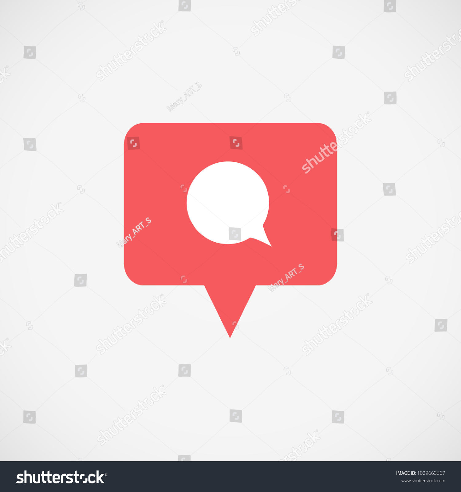 Instagram symbol text gallery symbol and sign ideas social media instagram icon comment red stock vector 1029663667 social media instagram icon comment red color buycottarizona