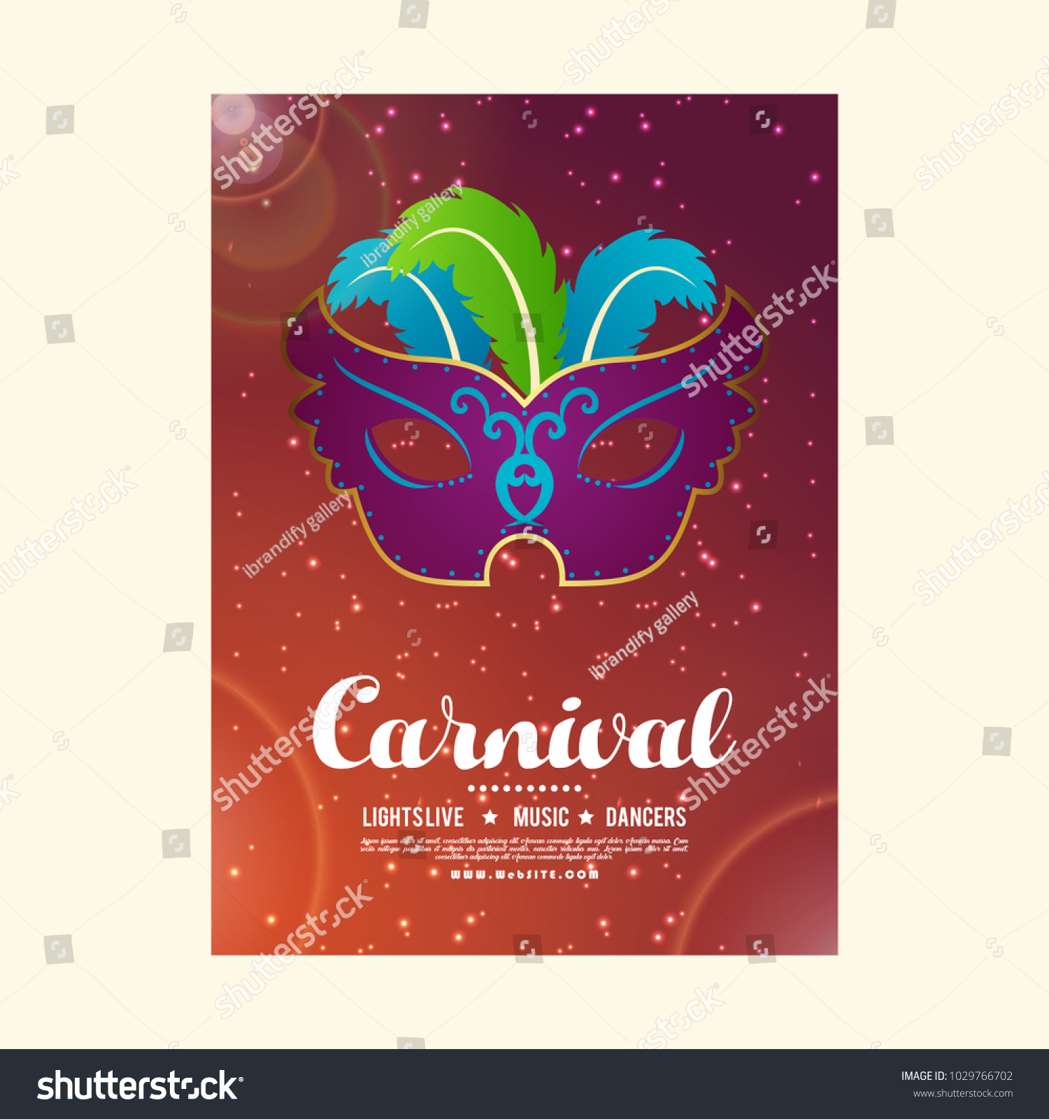 Happy Brazilian Carnival Day Carnival Party Stock Vector 1029766702 ...