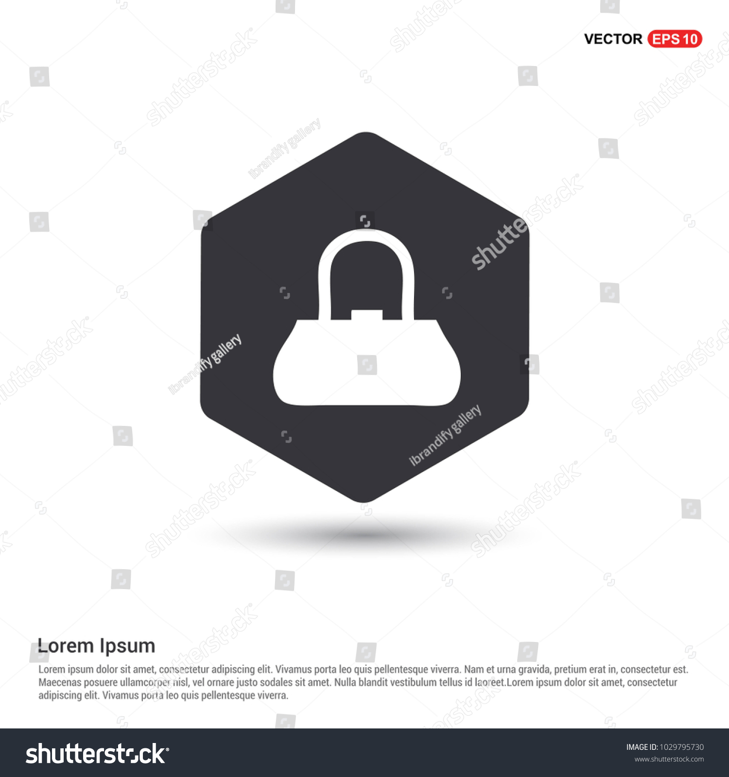 Add Bag Purse Icon Hexa White Stock Vector (2018) 1029795730 ...