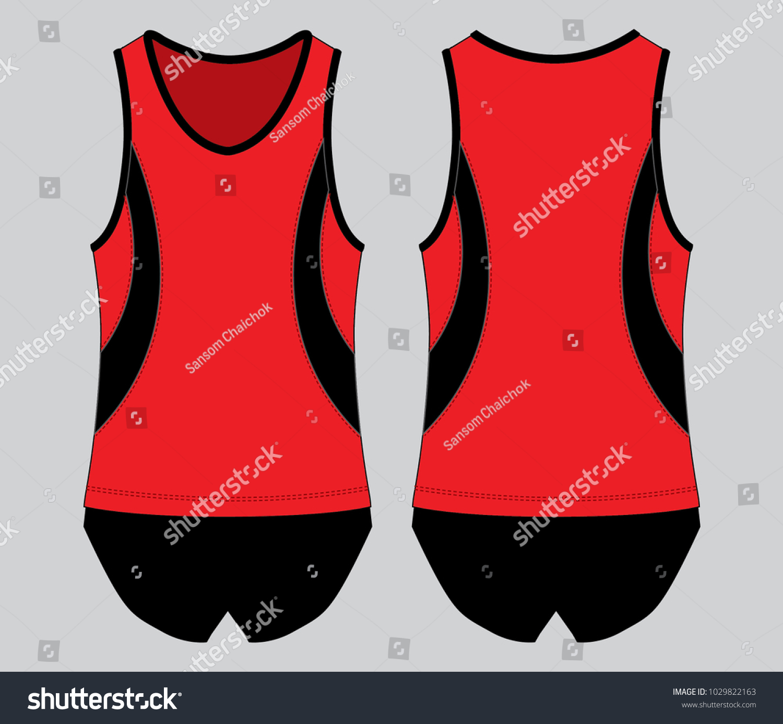 ab20425ea3504 Running Tank Tops Sleeveless Shirts Red Black Stock Vector (Royalty ...