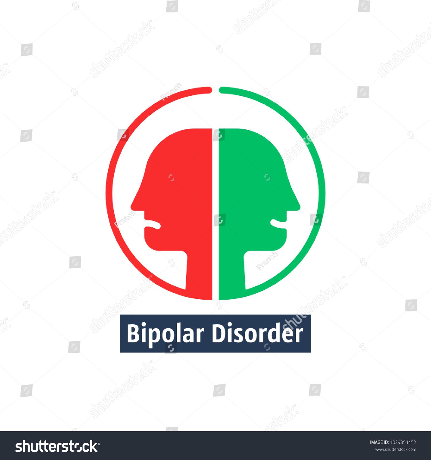 Human heads like bipolar disorder simple stock vector 1029854452 human heads like bipolar disorder simple flat trend modern outline man logotype graphic art design biocorpaavc Gallery